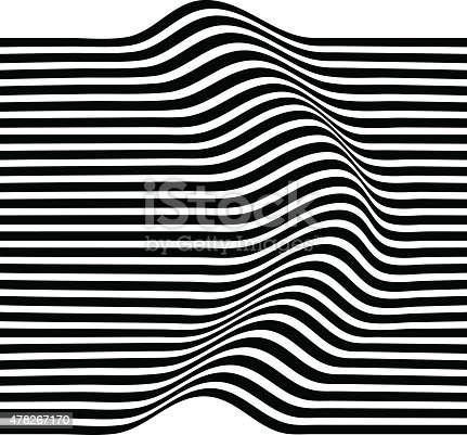 Elegant Striped graphic abstract stripes pattern. Black and white geometric pattern. Vector illustration