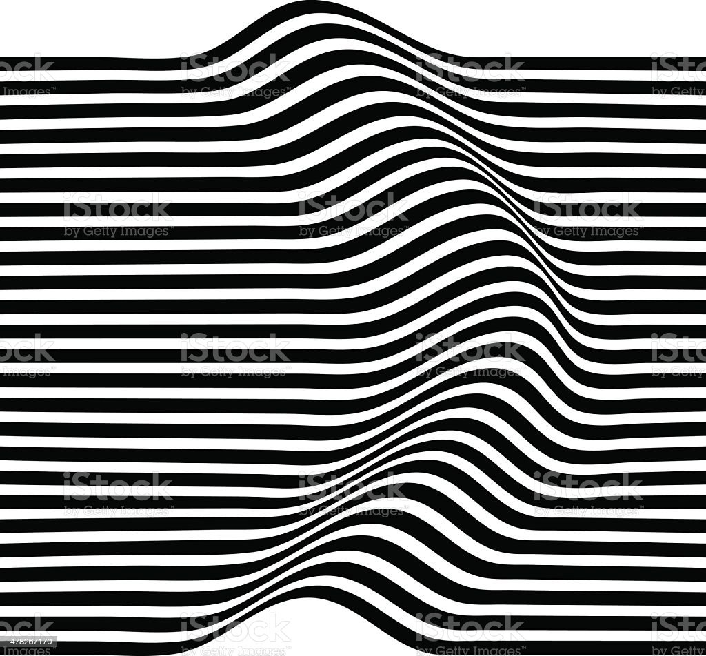 Elegant Stripe Waves vector art illustration