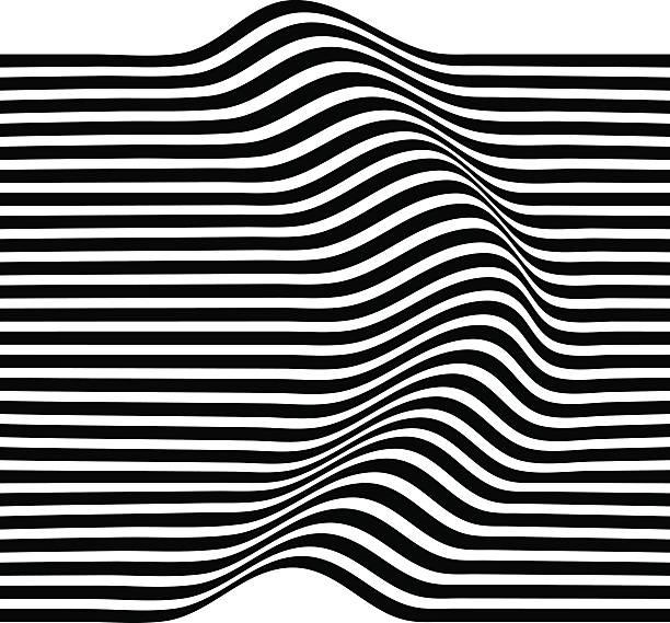 elegant stripe waves - black and white pattern stock illustrations, clip art, cartoons, & icons