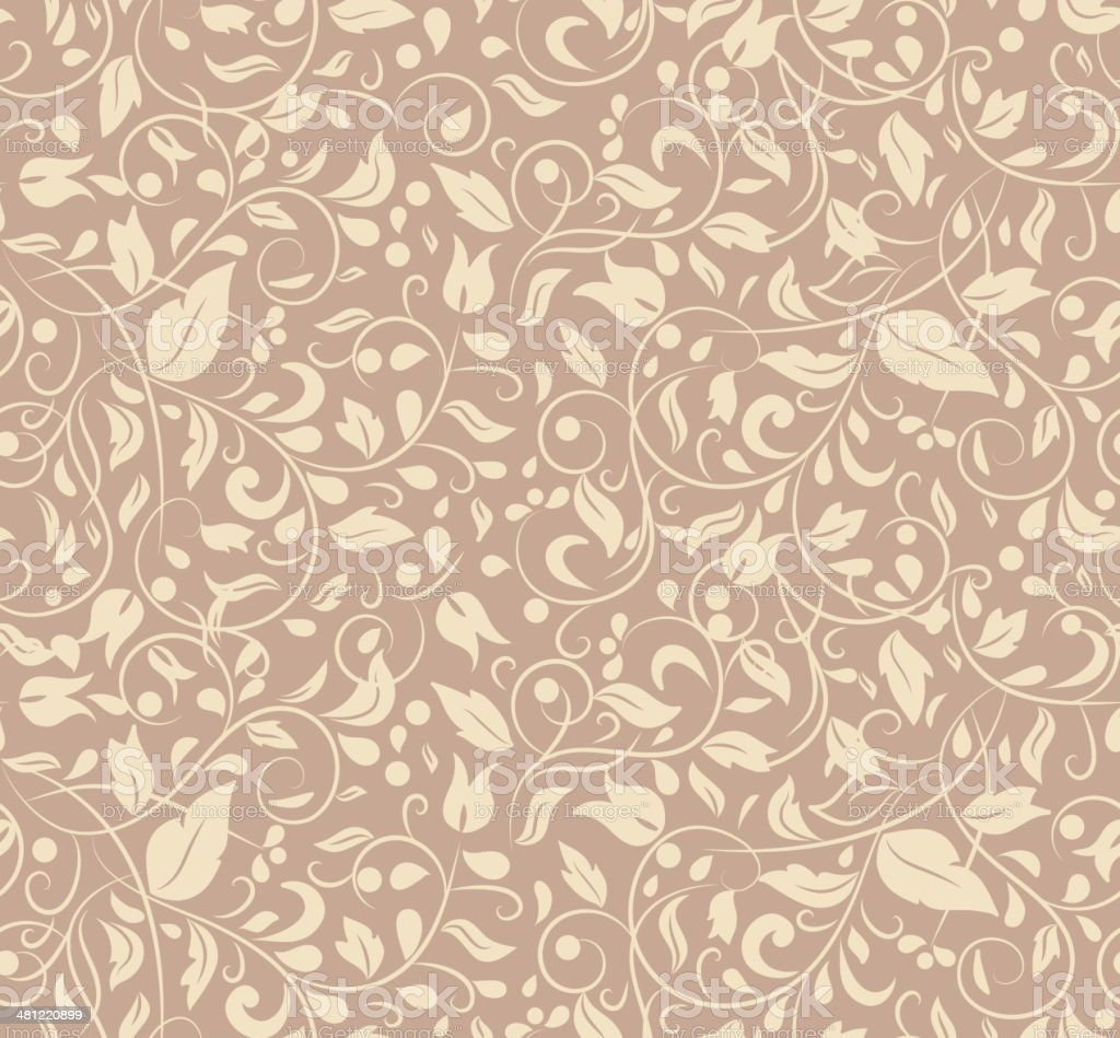 Elegant Stylish Abstract Floral Wallpaper Stock Illustration