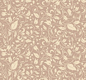 Elegant stylish abstract floral wallpaper. Seamless pattern. Can be used for wallpaper, pattern fills, web page background,surface textures.