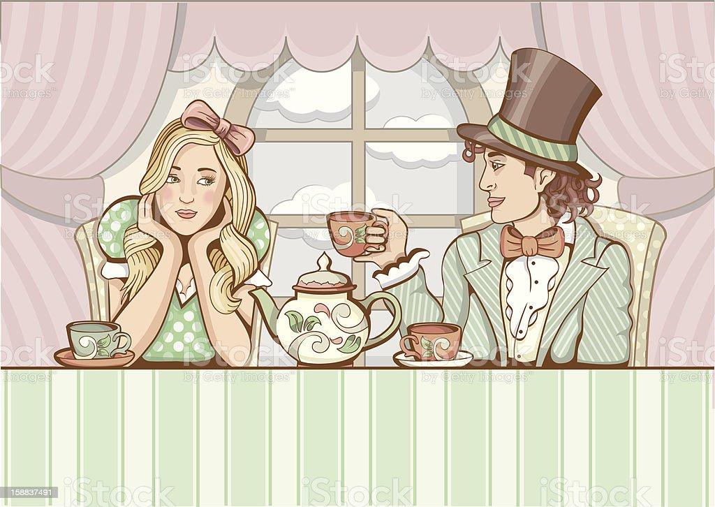 Elegant tea party royalty-free stock vector art