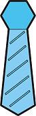 elegant tie isolated icon