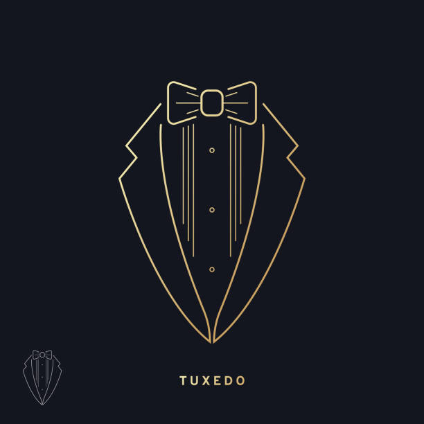 Elegant tuxedo icon Vector illustration EPS 10 tuxedo stock illustrations