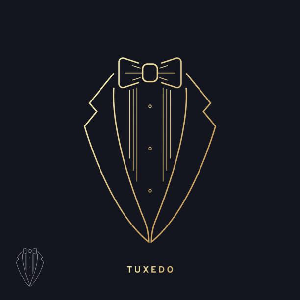 ilustrações de stock, clip art, desenhos animados e ícones de elegant tuxedo icon - smoking
