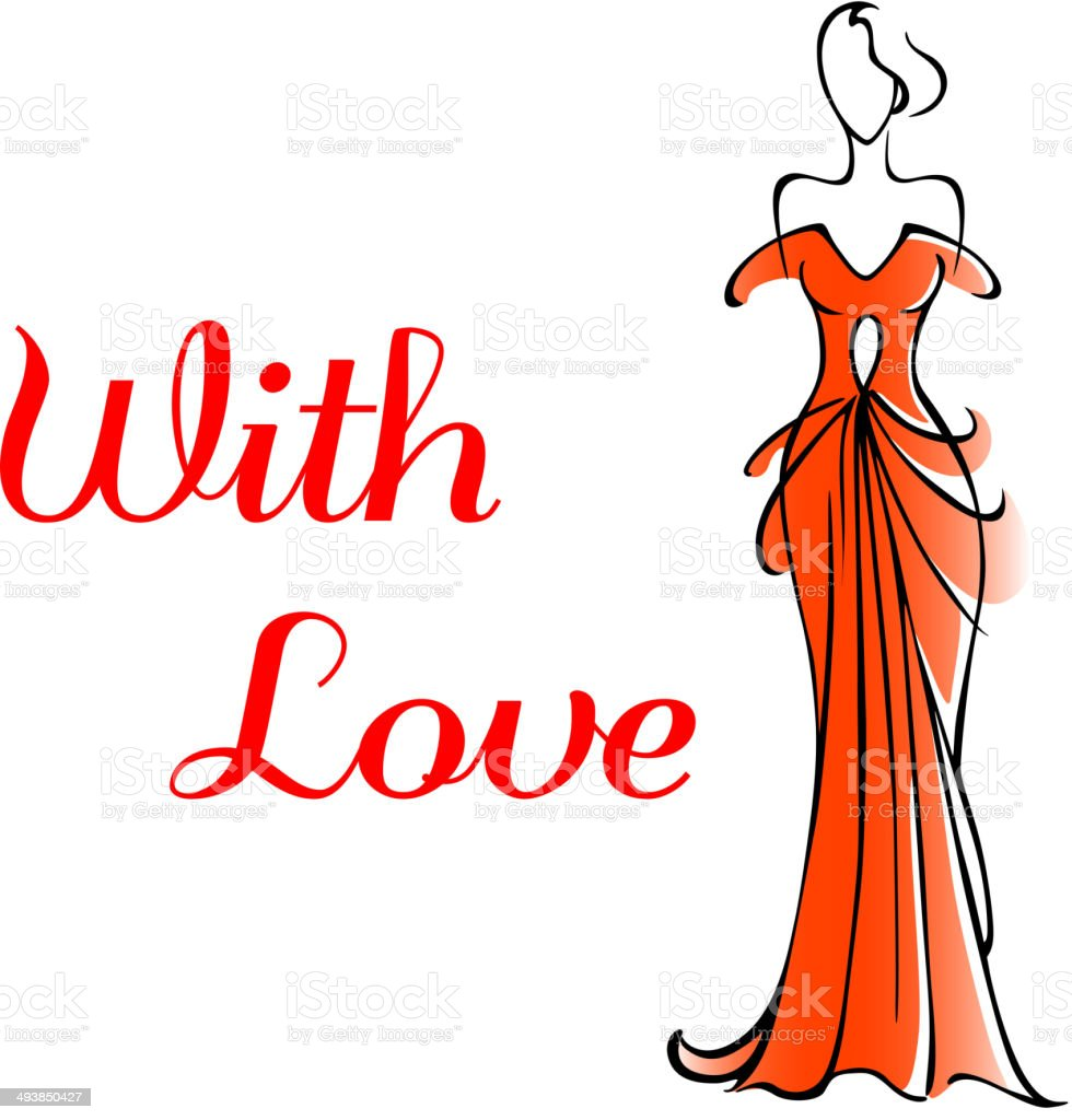 Elegant Valentines card for a loved one royalty-free stock vector art