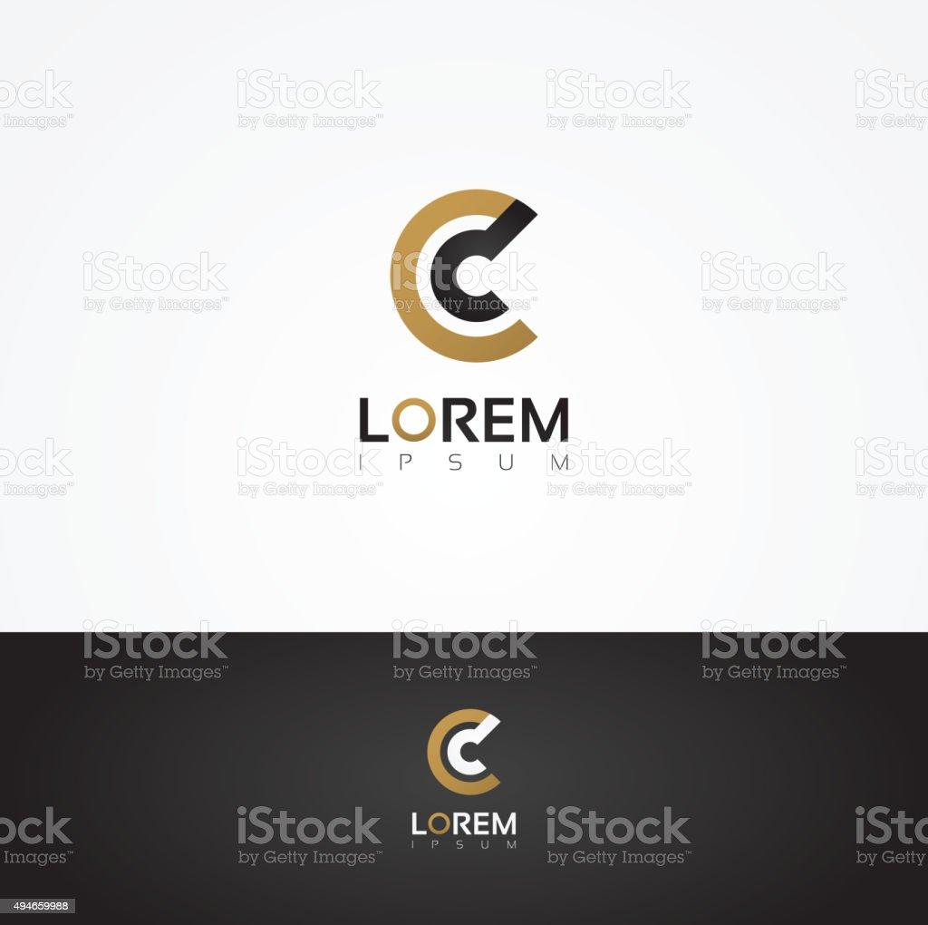 Elegant vector graphic alphabet / letter C vector art illustration