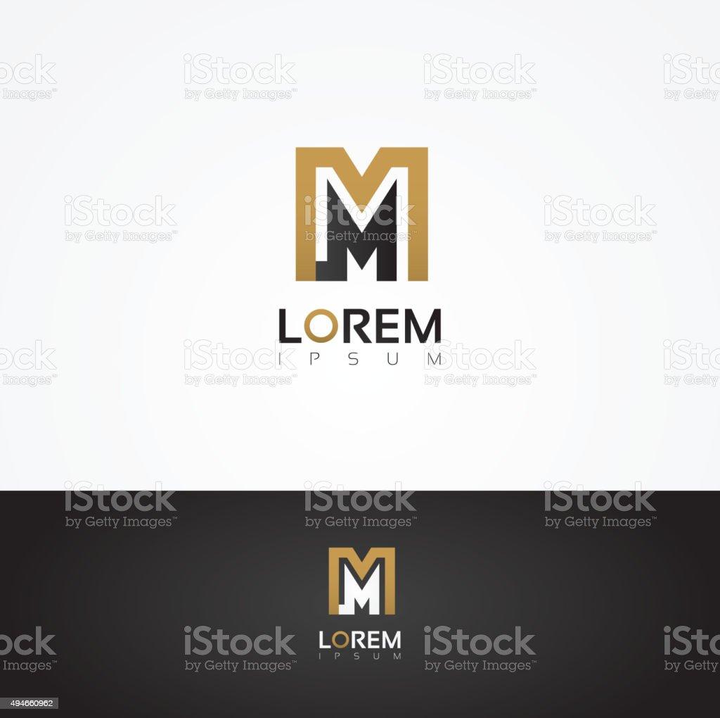 Elegant vector graphic alphabet / letter M vector art illustration
