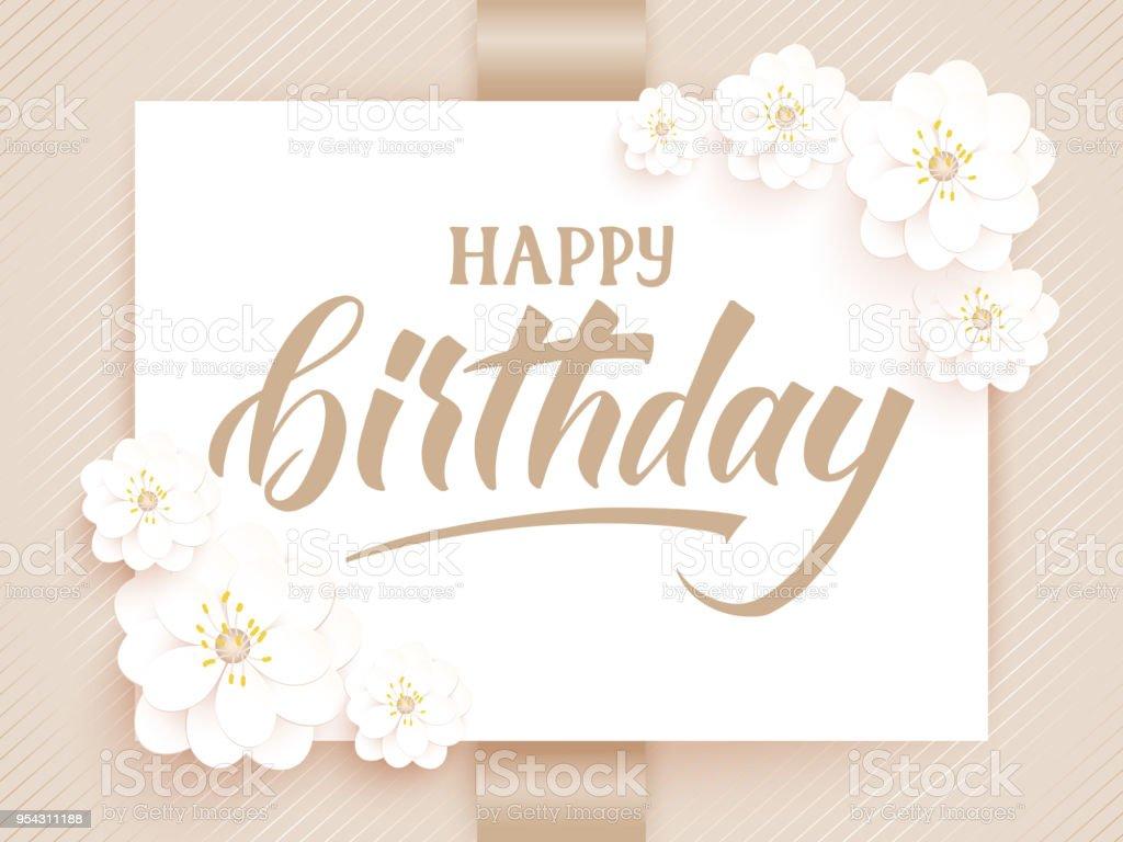 Elegant vector happy birthday card vector invitation card with elegant vector happy birthday card vector invitation card with background and frame with flower elements stopboris Gallery