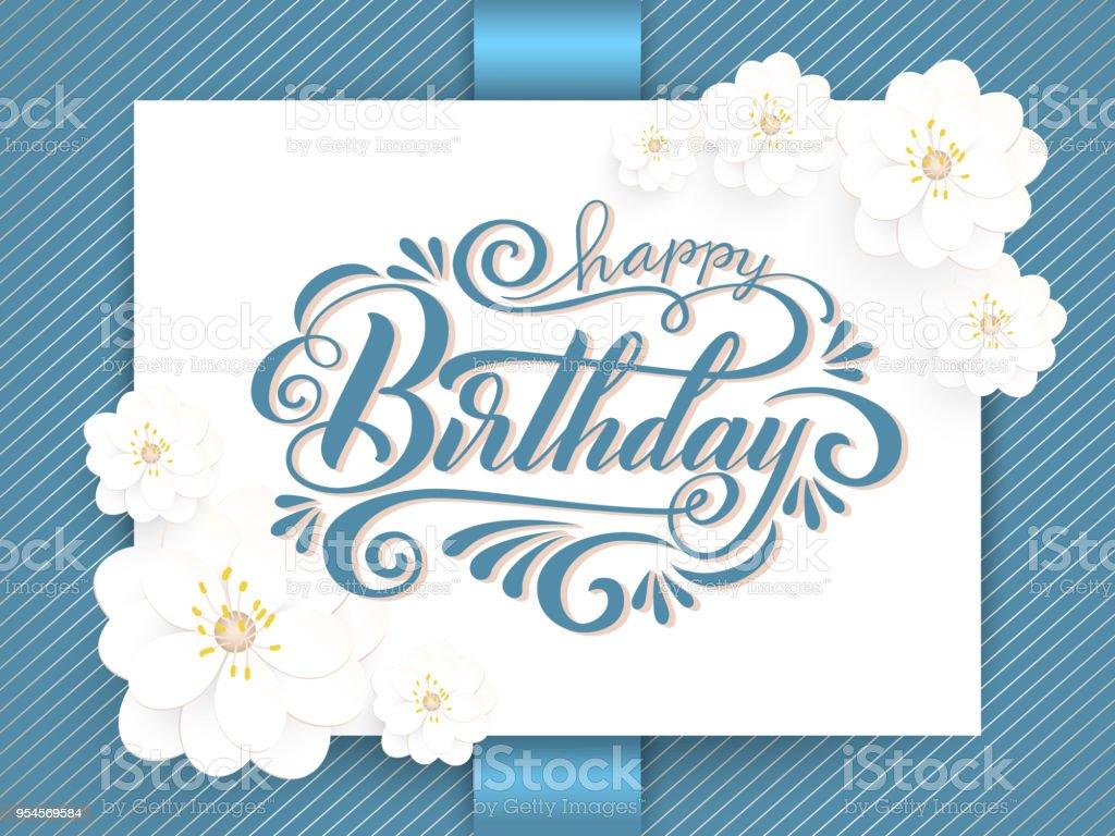 Ilustración De Elegante Vector Feliz Cumpleaños A Su Tarjeta