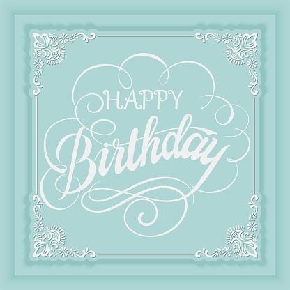 Elegant Vector Happy Birthday To You Card Vector Invitation