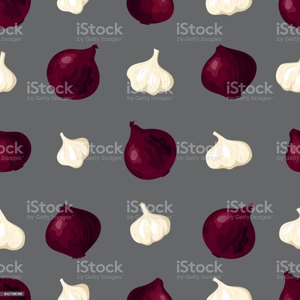 Elegant vegetable garlic red onion seamless pattern royalty-free elegant vegetable garlic red onion seamless pattern stock vector art & more images of agriculture
