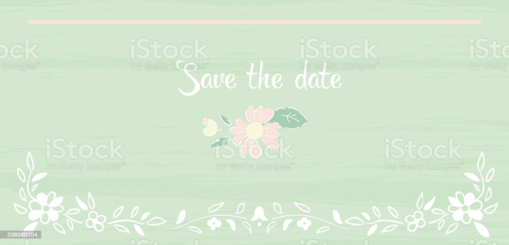 Elegant Vintage Background Peas And Frame Flowers Shabby Chic Royalty Free