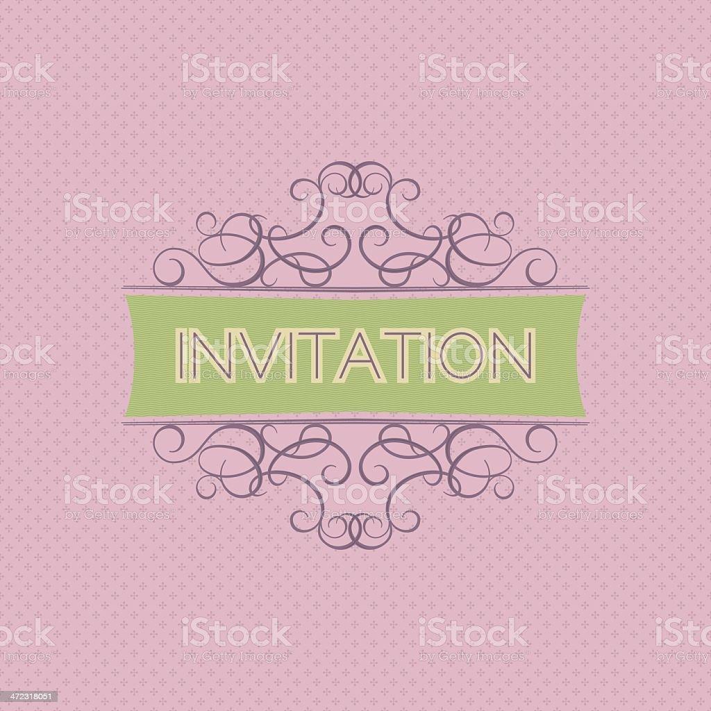 Elegant Vintage Invitation royalty-free stock vector art