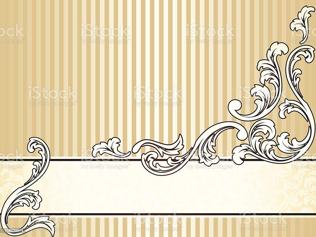 Elegant vintage sepia banner, horizontal royalty-free stock vector art