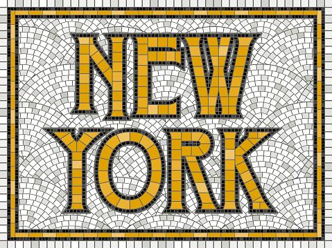 Elegant Vintage Tile Mosaic Design