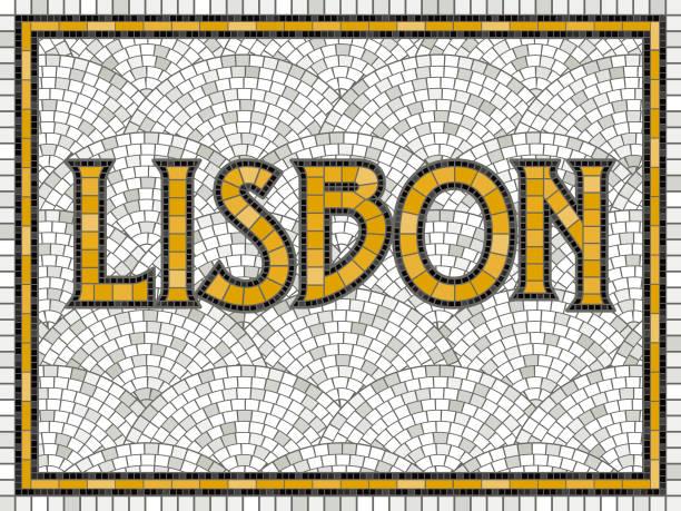 ilustrações de stock, clip art, desenhos animados e ícones de elegant vintage tile mosaic design - lisboa
