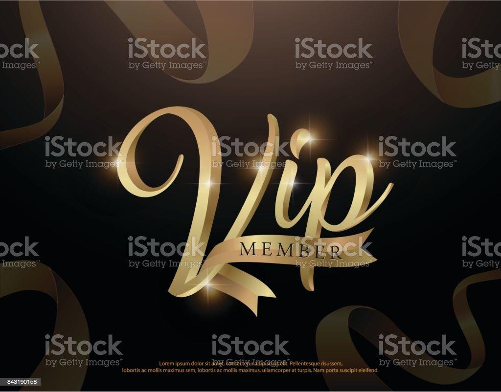 Ilustración de Elegante Vip Miembro Invitación Logotipo O Tarjeta ...