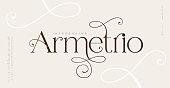 istock Elegant wedding alphabet letters font and number. Typography classic lettering serif fonts decorative vintage retro design concept. vector illustration 1317235003