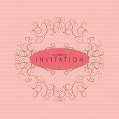 Romantic Vintage Wedding Invitation. Vector. EPS 8.