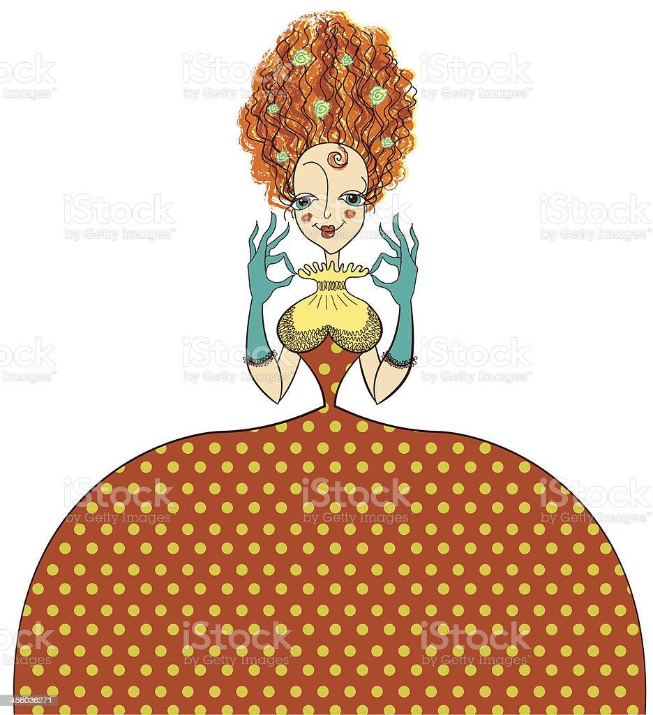 f375aaa6472 Élégante Femme à la mode en robe rétro vintage et gants Élégante femme à la  mode