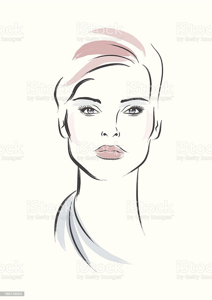 Elegant Woman vector art illustration