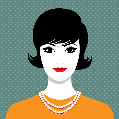 Elegant woman with pearl necklace