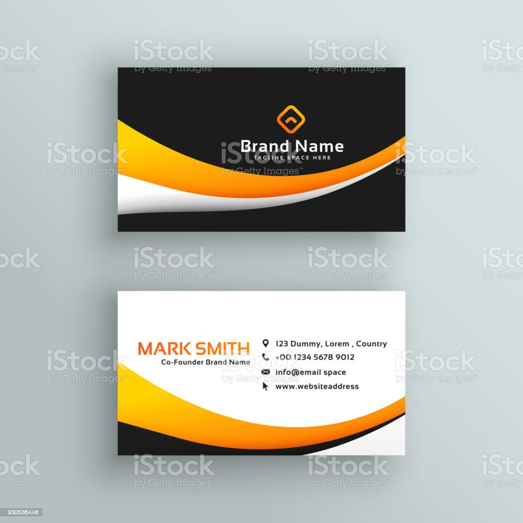 Elegant yellow black modern business card design stock vector art elegant yellow black modern business card design royalty free elegant yellow black modern business card reheart Gallery