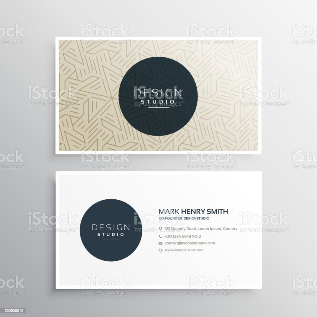 elegrant business company visiting card template with abstract g vector art illustration