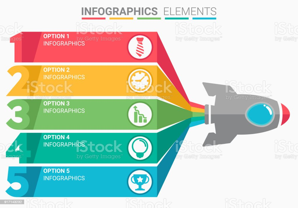Infographics Element Abstract Modern Design The Numbers Top Five ...