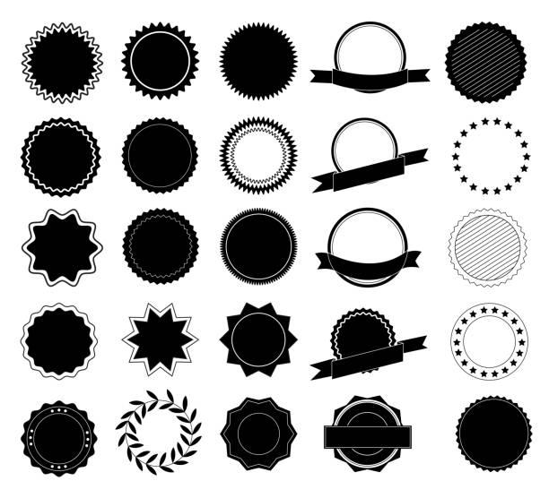 ilustrações, clipart, desenhos animados e ícones de coleção de design do elemento de rótulo e logotipo. elementos de design. ilustração vetorial - moda hipster