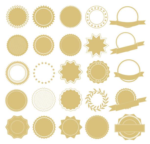kolekcja elementów projektu etykiety i logo. elementy projektu. ilustracja wektorowa - przypinka stock illustrations
