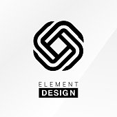 Vector illustration of the element design in black colors.