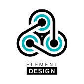 Vector illustration of the element design