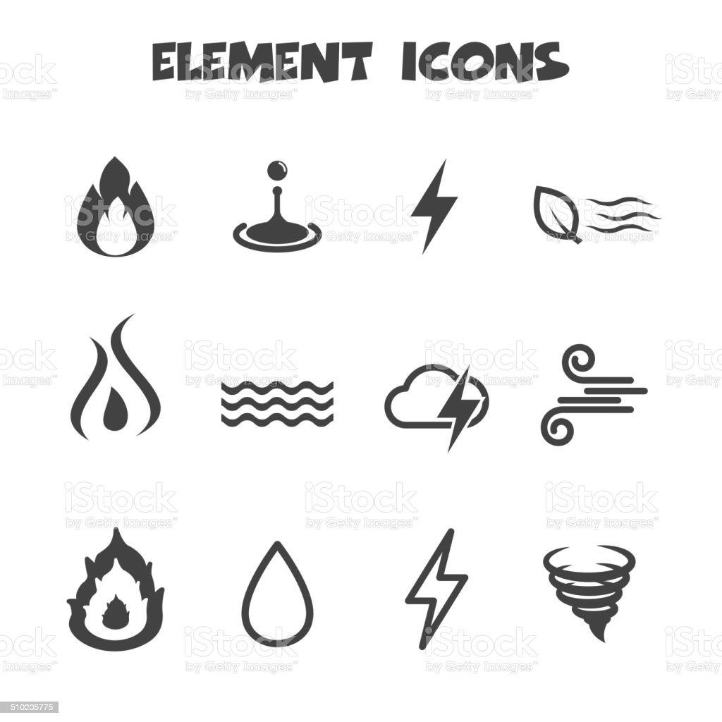 element icons vector art illustration