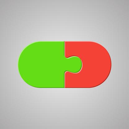 Element Jigsaw Puzzle 2 Separate Pieces Mosaic Details ...