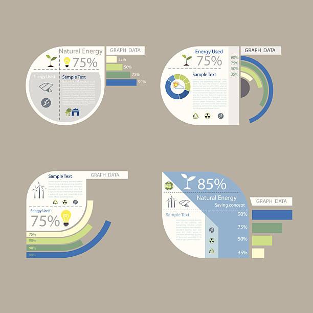 element of graph design for presentation chart vector art illustration