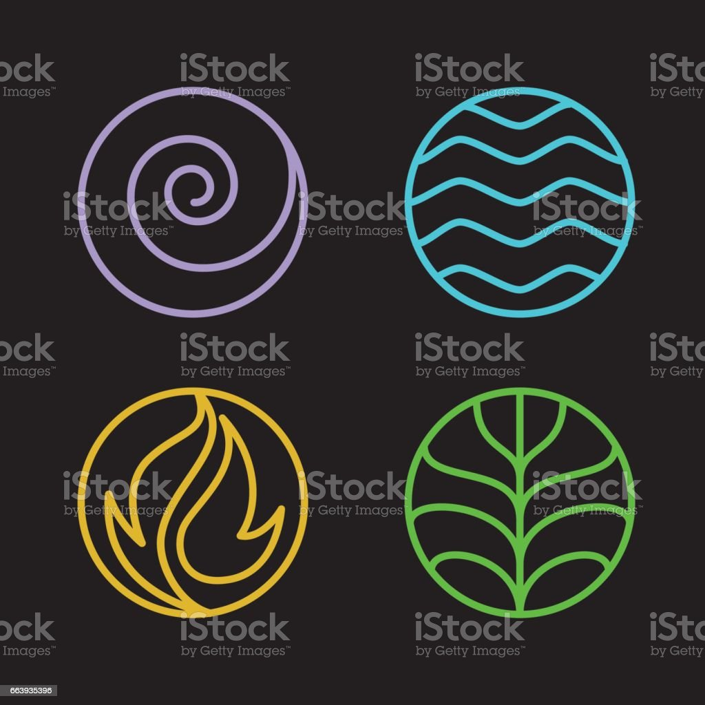 4 element vector art illustration
