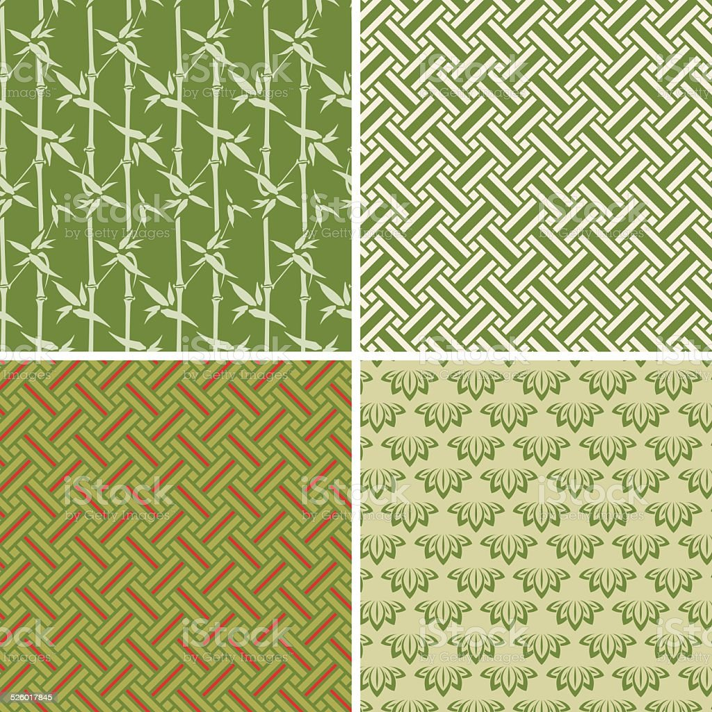 Element wood  (Seamless pattern set) vector art illustration
