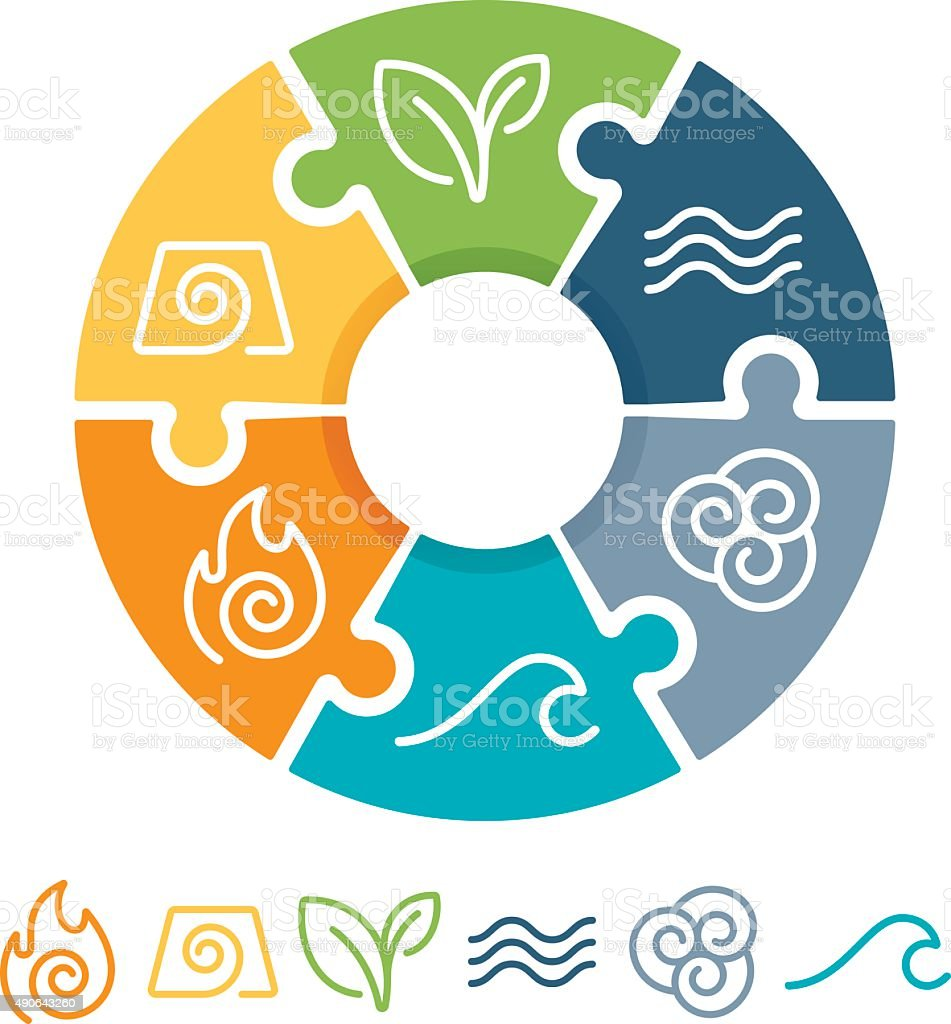 Elemental Symbols vector art illustration