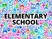 elementary school School and Education Vector Icon BackgroundWyoming Schools School and Education Vector Icon Background. The main object of this royalty free illustration is the key word surrounded by school and education vector icon pattern. The icons vary in size and color and are very vivid. This illustration is conceptual and is perfect for school and education industries. Each icon can be used independently from the background set.