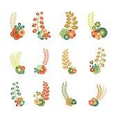 Elementos decorativos florales