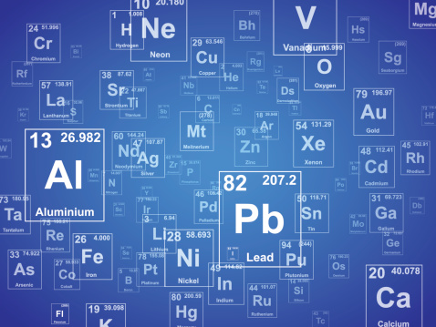 Periodic table of the elements. Background illustration.