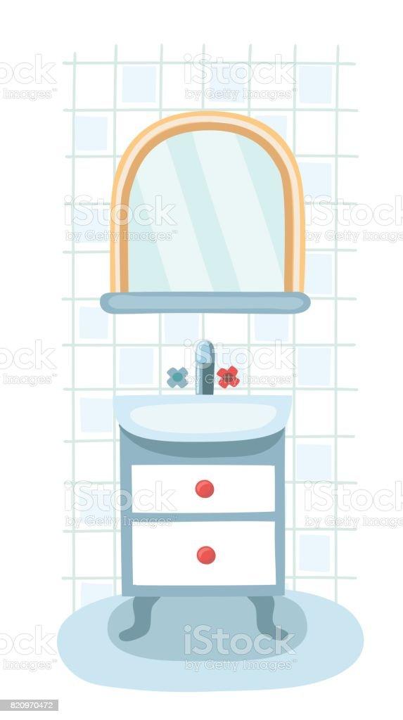 Éléments Pour Salle De Bains Moderne Miroir Tablette Et ...