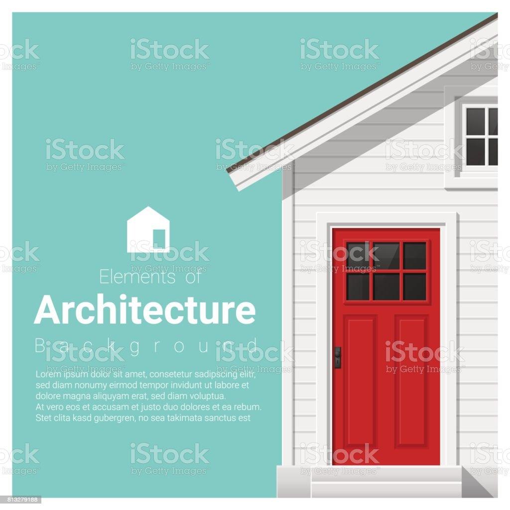 Elemente Der Architektur Hintergrund Mit Einem Kleinen Haus, Vektor,  Abbildung Lizenzfreies Elemente Der Architektur