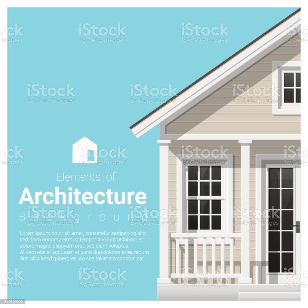 Delightful Elemente Der Architektur Hintergrund Mit Einem Kleinen Haus, Vektor,  Abbildung Lizenzfreies Elemente Der Architektur