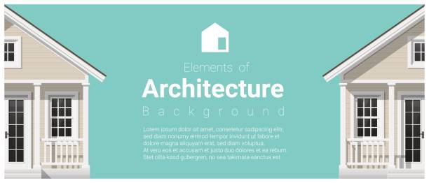 Elements of architecture background with a small house , vector ,illustration Elements of architecture background with a small house , vector ,illustration front door stock illustrations