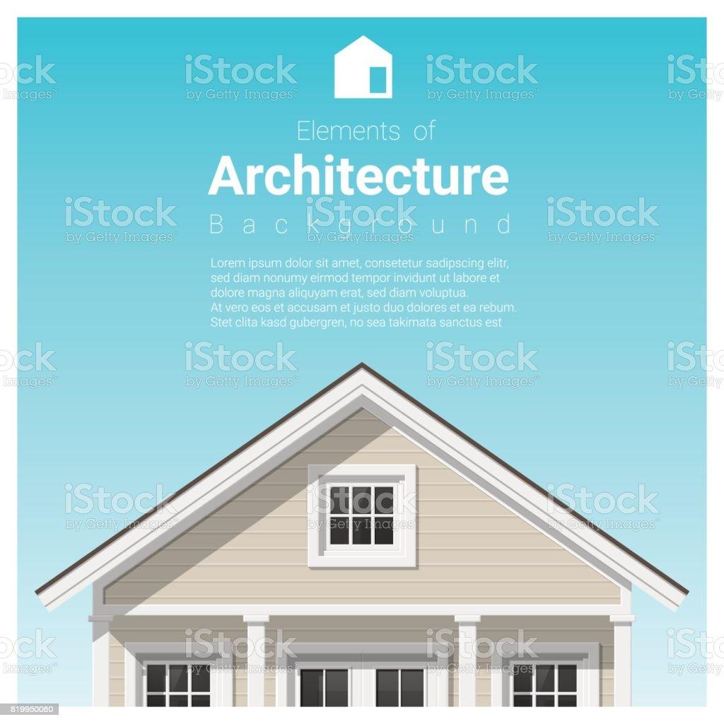 Great Elemente Der Architektur Hintergrund Mit Einem Kleinen Haus, Vektor,  Abbildung Lizenzfreies Vektor Illustration