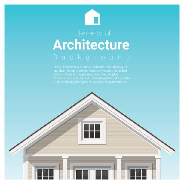 ilustraciones, imágenes clip art, dibujos animados e iconos de stock de elementos de fondo de la arquitectura con una pequeña casa, vector, ilustración - hipotecas y préstamos