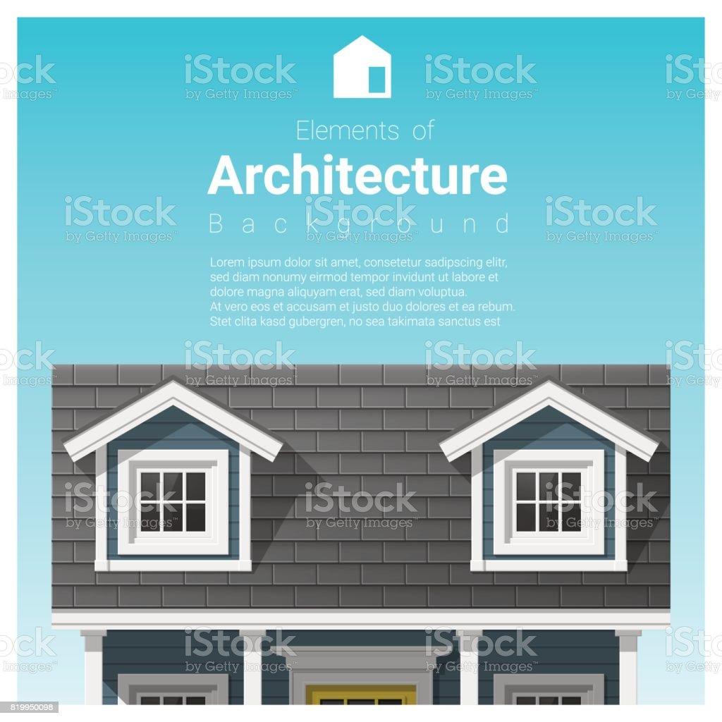 Superb Elemente Der Architektur Hintergrund Mit Einem Kleinen Haus, Vektor,  Abbildung Lizenzfreies Elemente Der Architektur